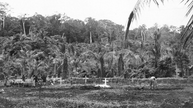 War cemetery at Tol, New Guinea